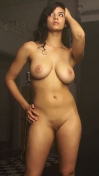 Fair skin Beautiful Indian College girl shanaya full frontal nude photo shoot