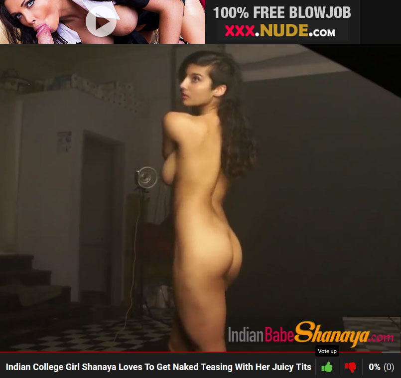 Fair skin Beautiful Indian College girl shanaya nude photo shoot