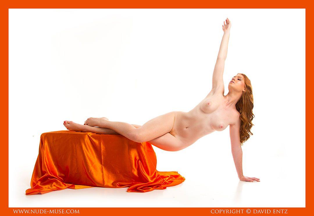 Aeries Nude Orange Satin