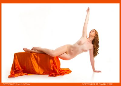 Aeries Nude Orange Satin